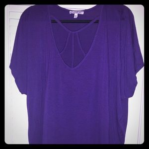 EXPRESS Strappy Front London Tee in Purple